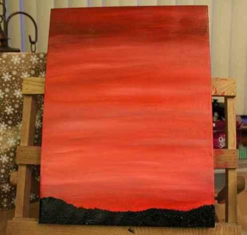 tree silhouette painting 1