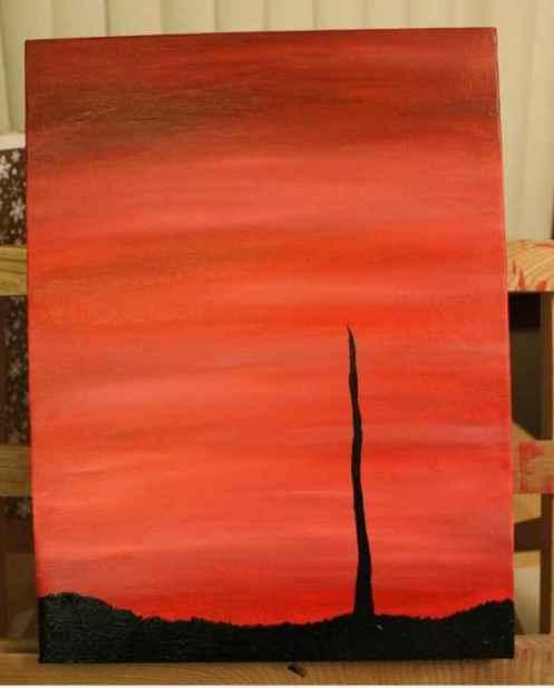tree silhouette painting 2
