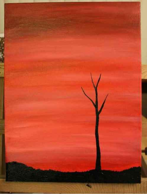 tree silhouette painting 3