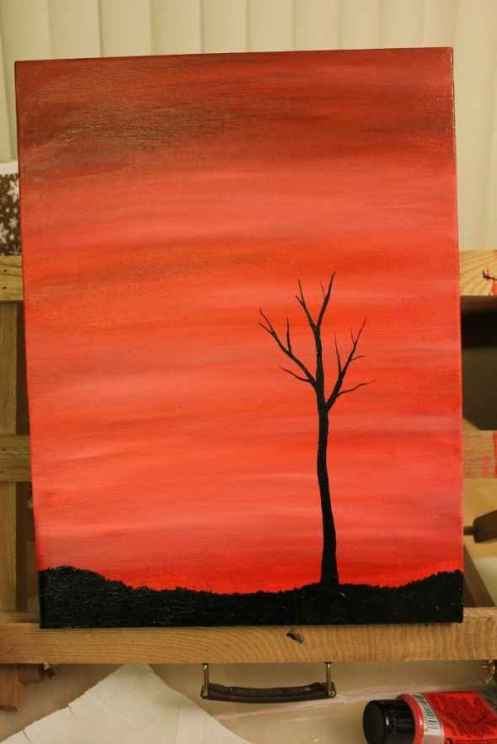 tree silhouette painting 4