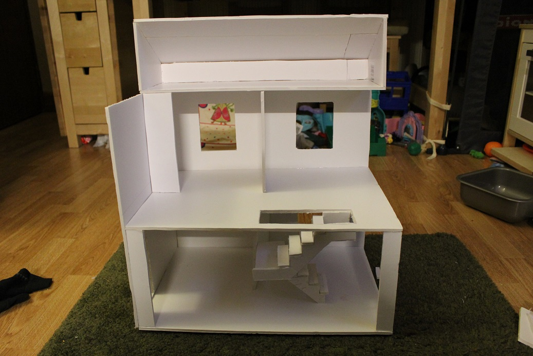 Designing and building a budget dollhouse stuwahacreations for Foam panel house