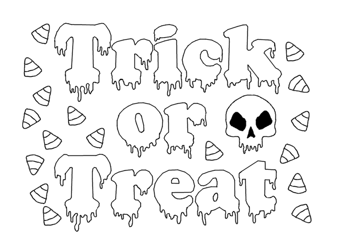 Free Halloween Coloring Pages | StuwahaCreations