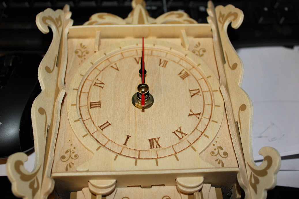 Model Kits Cuckoo Clock Wood Craft Assembly Wooden Construction