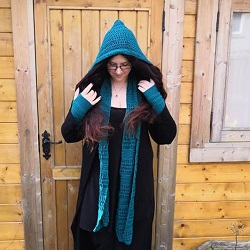 Simple Hooded Scarf Pattern Stuwahacreations
